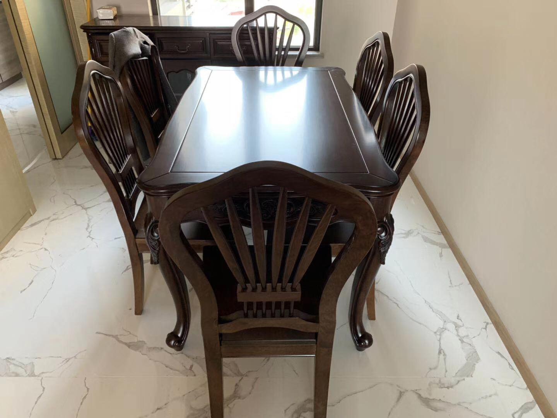 美式胡桃木长餐桌